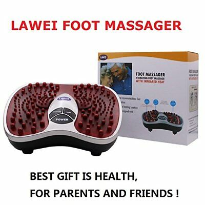 Foot Leg Massager Machine Electric Shiatsu Blood Booster With US Plug Red New