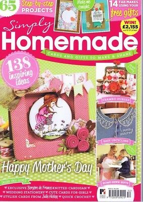 SIMPLY HOME MADE Craft Magazine 92 Scrapbooking Card Making Embroidery FREE KIT
