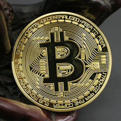 1x Rare Collectible Golden Iron Bitcoin Commemorative Plated Miner Coin Gift jc