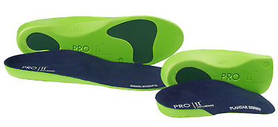 2 x PAIR OF ORTHOTIC insoles 1 xFULL LENGTH AND X1 PAIR 3/4 SLIM FIT INSOLES