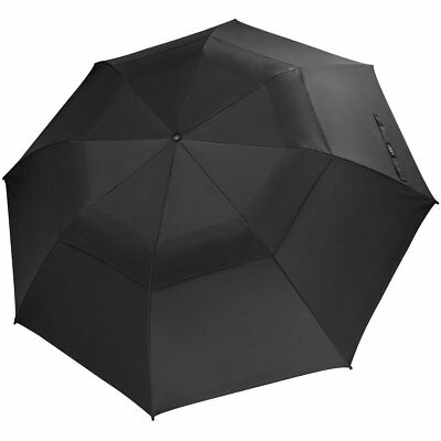 G4Free Folding Large Golf Umbrella 58-inch Windproof Double Canopy Auto Open