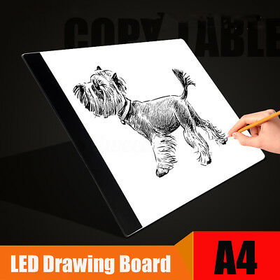 A4 LED Artist Art Stencil Board Light Box Tracing Drawing Board Lightbox Pad