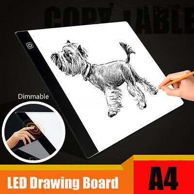 Dimmable USB A4 LED Light Box Tracing Board Art Stencil Drawing Pad Draw Table