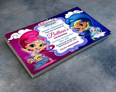 Shimmer and Shine Invitations Personalised Birthday Party Invites