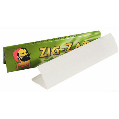 Full Box of 50 Booklets Zig Zag Green Kingsize Cigarette Smoking Rolling Papers