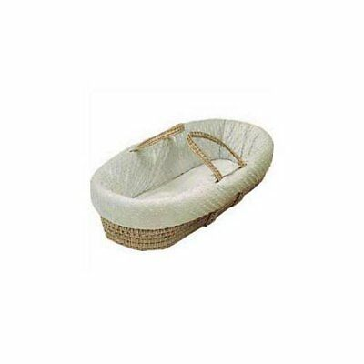 Baby Doll Bedding Heavenly Soft Moses Basket, Ivory