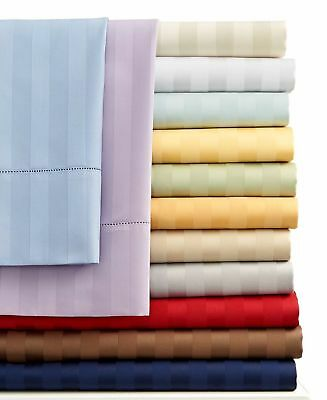 1000 Count 100 Percent Egyptian Cotton Striped Sheet Set All Colors / Sizes
