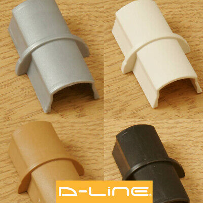 D-Line 16x8 30x15 50x25mm Coupler For TV Cable Cover Wire Hiding Trunking Joint
