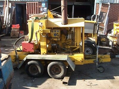 Quill Diesel Pressure Washer Drain Jetter Trailer Mounted Perkins Engine