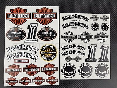 Harley chopper Sportster Dyna stickers Softail decals v-rod touring iron glide