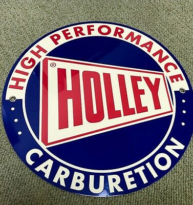 Holley Vintage Carburetion Carburetor Logo Reproduction Garage Sign