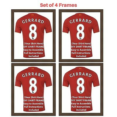 4 x Frame for Football, Rugby and Cricket shirts | Ready Made Shirt DIY Frames