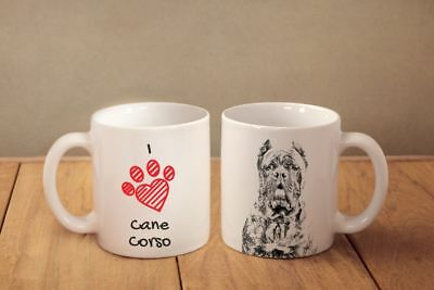 "Cane Corso - ceramic cup, mug ""I love"",UK"