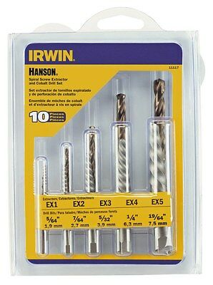 Irwin 11117 10pc screw extractor drill set tool