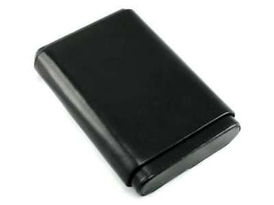 Black Leather 5 Finger 56 Ring Gauge Cigar Case Holder with Cedar Lining