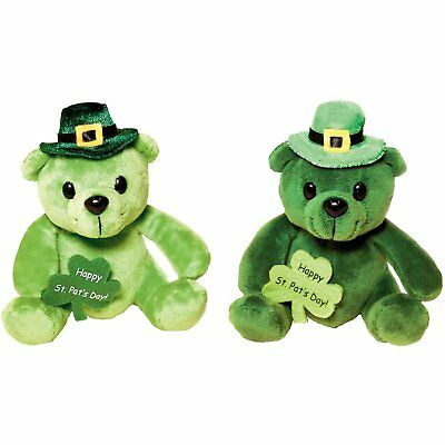 Amscan Shamrock In' St. Patrick's Day Party Leprechaun Bear Plush Pack Of 1, 6""