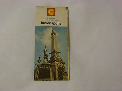 1965 Indianapolis Street Map Shell Gas Oil Road map