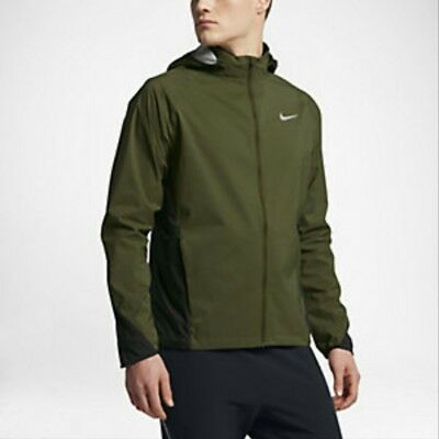 b6f96aabc7a5 Nike Mens Shield Running Jacket Men - Green Black 801783 331 Size - M  L