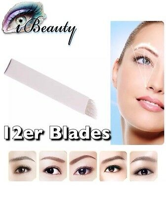 Microblading Nadeln 12er Blades Permanent make-up Nadeln Handmethode Blades