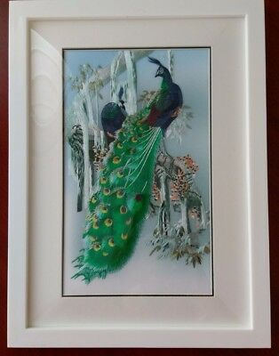 Chinese Embroidered Peacock Picture