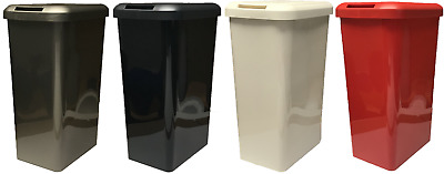 45L Tontarelli Rectangle Touch Top Bin Waste Rubbish Kitchen Office Bin