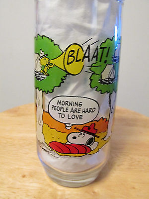 Vintage Mcdonalds Camp Snoopy Collection Glass Peanuts Gang 1965 Estate Find !!!
