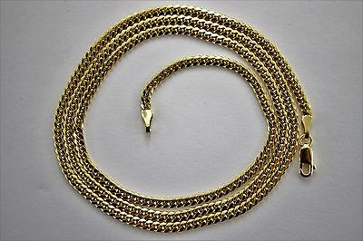 """Authentic 14K Solid Yellow Gold MIAMI CUBAN LINK CHAIN 2.5mm-4mm/18""""~30"""""""