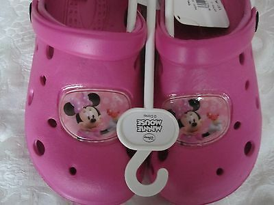 """Bnwt - """"Disney Minnie Mouse"""" Clogs - Sizes:  8.5 And 11.5- Free Post To Uk"""