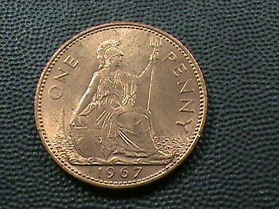 GREAT  BRITAIN    1  Penny   1967       UNCIRCULATED