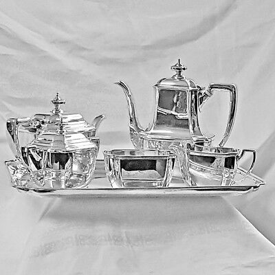 Tiffany Hampton coffee & tea service / set 5 pieces NO mono 1956 sterling silver
