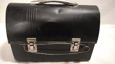 Vintage Metal Dome Lunch Box With Rare Locking Pin & Snap-Tite Thermos