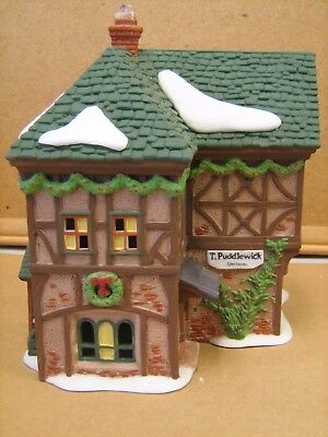 Dept 56 Dickens Heritage Village #58331 T Puddlewick Spectacle Shop Retired