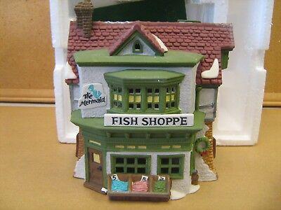 Dept 56 Dickens Village #59269 The Mermaid Fish Shoppe Retired