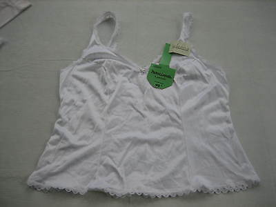 New With Tags ADONNA White Nylon Camisole - Lace Trim - Style 1800 - Size 40