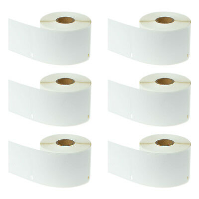 "6 Rolls White Labels 2-5/16"" x 4"" Compatible for Dymo LabelWriter 30256 300/Roll"