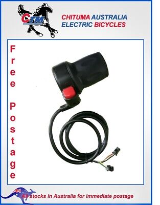 Twist Half Throttle w/ Push Button TH015 - suits Electric Tricycle and Bicycle