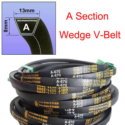 V Belt  A Section High Quality Sizes A15-A59 8mm*13mm For Industrial LawnMower
