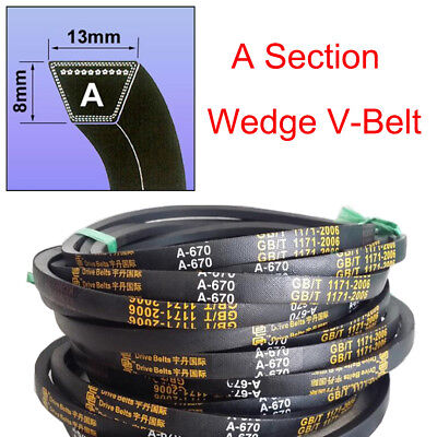 V Belt  A Section Sizes A15-A59 8mm*13mm High Quality For Industrial LawnMower