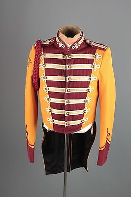Vtg 60s Marching Band Sgt Peppers Uniform Jacket sz S 34 Brass Buttons #3402