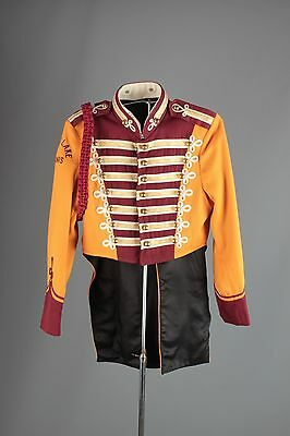 Vtg 60s Marching Band Sgt Peppers Uniform Jacket sz S 34 Brass Buttons #3404