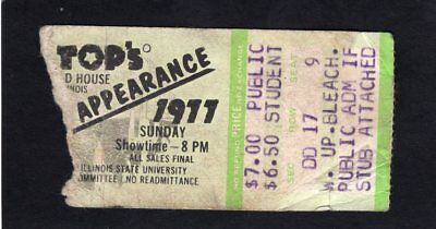 1977 ZZ Top Concert Ticket Stub Illinois State University Worldwide Texas Tour