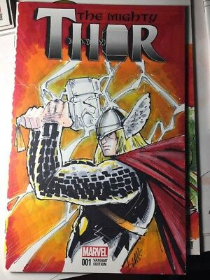 The Mighty Thor 1  Sketch Cover Variant Bla!!