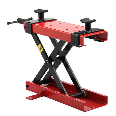 500KG Motorbike Bike Motorcycle Stand Scissor Lift Jack Paddock Workshop Bench