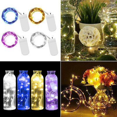 10/20/30 LED Battery Operated Copper Silver Wire String Fairy Lights Xmas Party