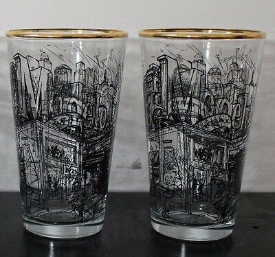 Modelo Real Authentic Craftsman Gold Rim Beer Pint Glasses Brand New, Set of 2