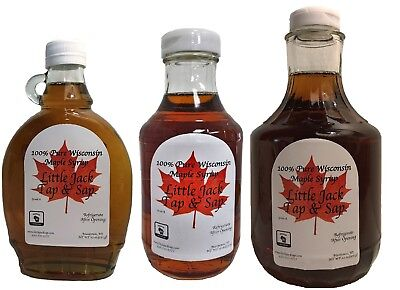 Maple Syrup 100% Pure All Natural Grade A 12oz/16oz/32oz from Wisconsin!
