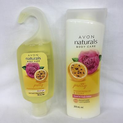 AVON Naturals Body Care Passionfruit & Peony Shower Gel & Body Lotion Set