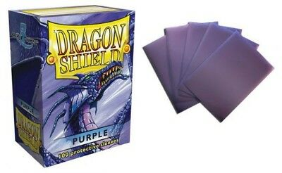 Dragon Shield - Purple 100 Protective Sleeves Cases Standard Card Holder