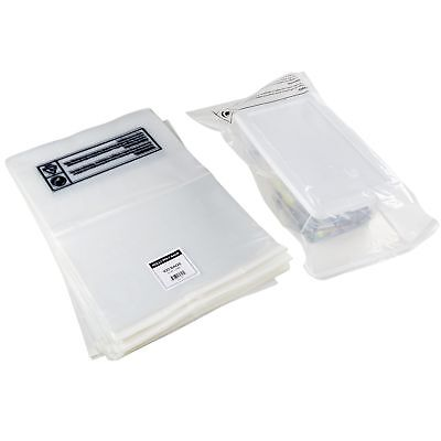 100 Clear Poly Bags - 14x20 - Strong Self Seal Strip with Suffocation Warning