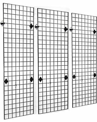 2 x 6 Grid Panel Wall Three Pack Combo with Wall Mount Brackets